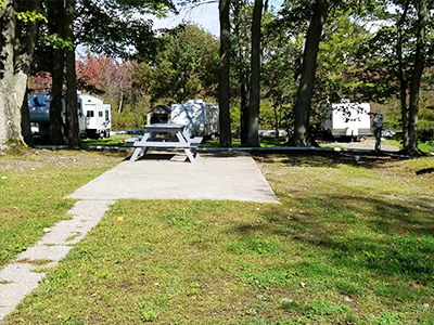 Back In Campsites From Ontario Shores RV Park