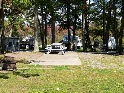 Back In Campsite From Ontario Shores RV Park