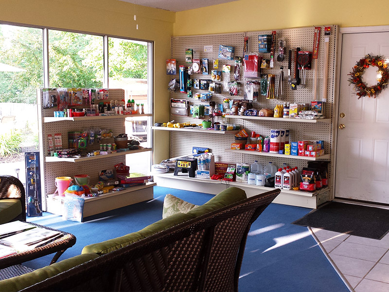 Photo Gallery Main Office Camping Supplies from Ontario Shores RV Park