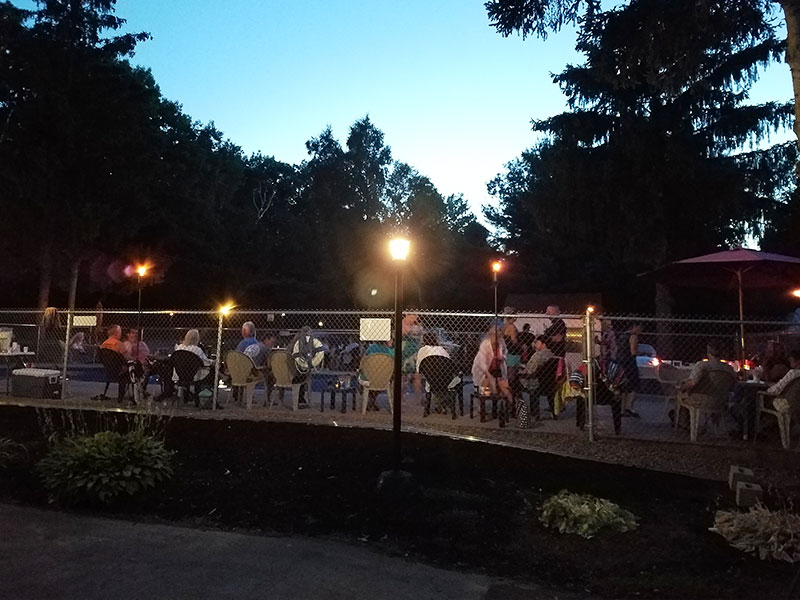 Photo Gallery Pool at Night from Ontario Shores RV Park