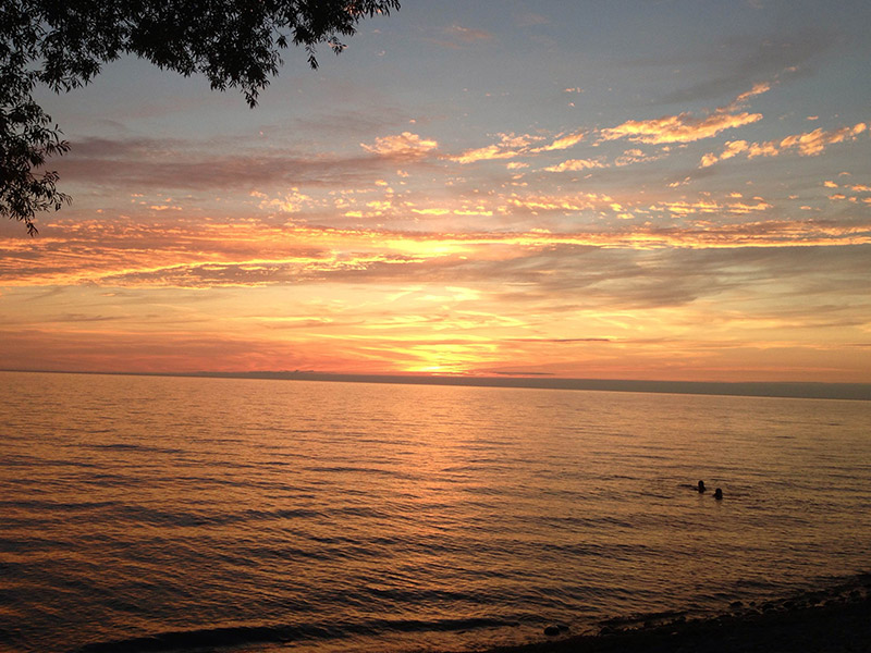 Photo Gallery Lake Ontario Sunset from Ontario Shores RV Park
